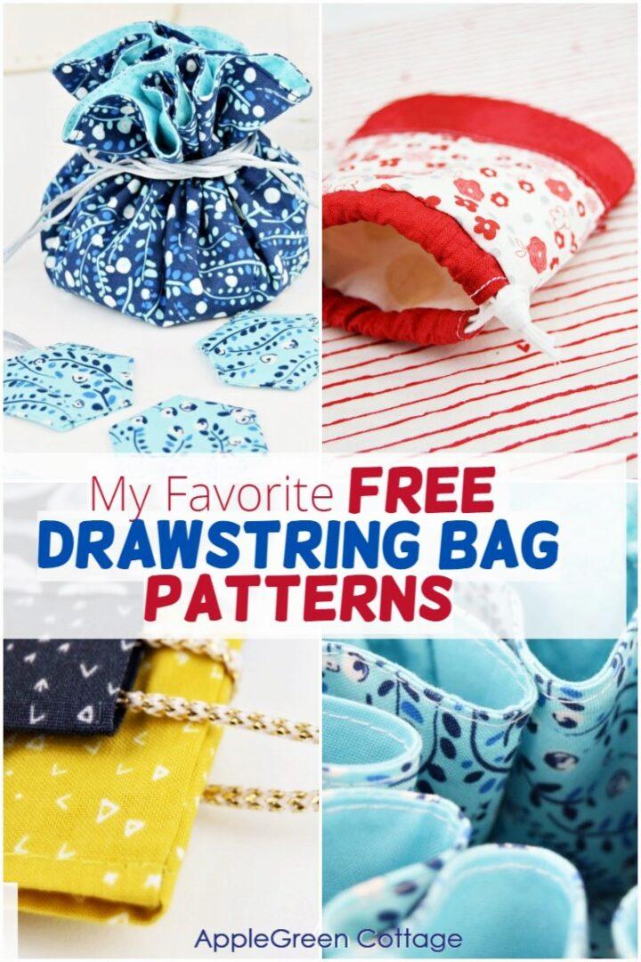 drawstring bag patterns