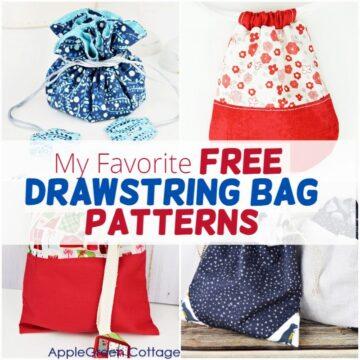 My Favorite Patterns For Drawstring Bags