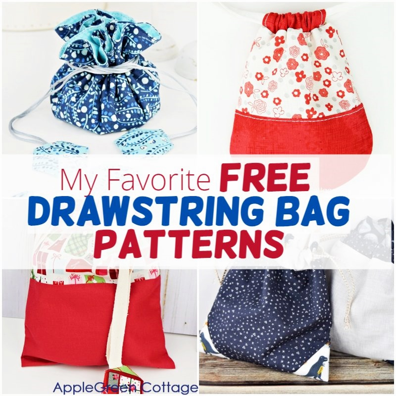patterns for drawstring bags