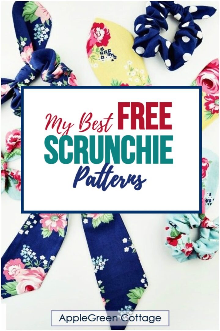 free scrunchie patterns to sew
