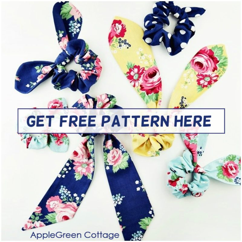 get free scrunchie pattern here