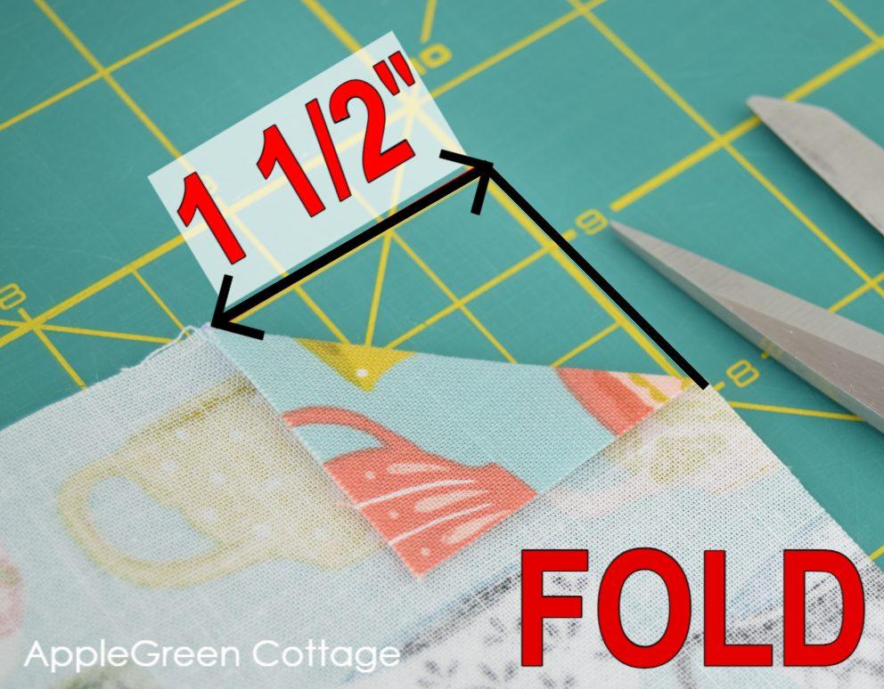 fabric corner folded