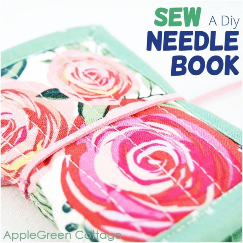 diy needle book to sew