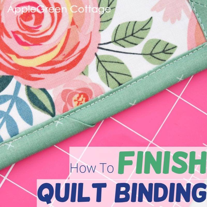 how to finish binding ends on a quilt