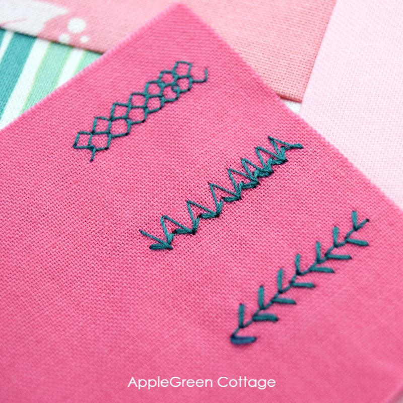 decorative stitches sewn with a sewing machine