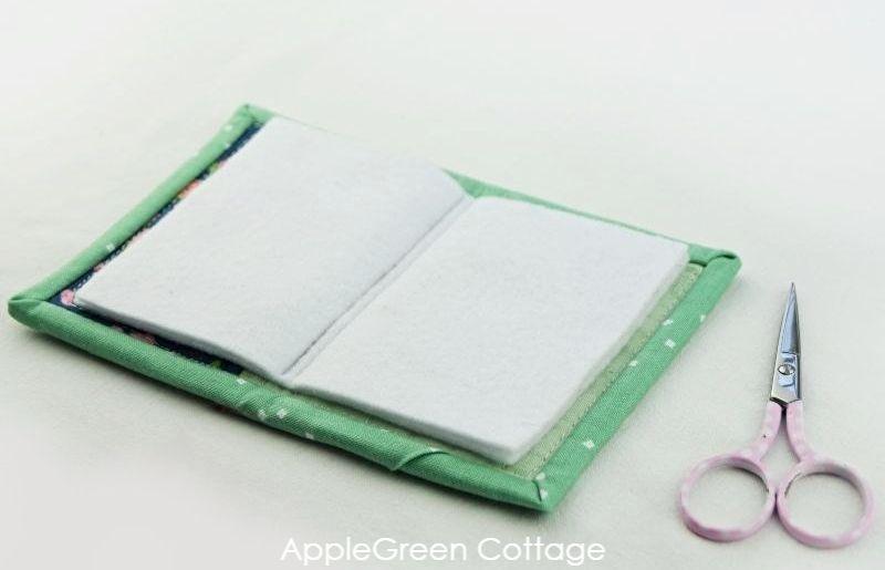 fabric needlebook open