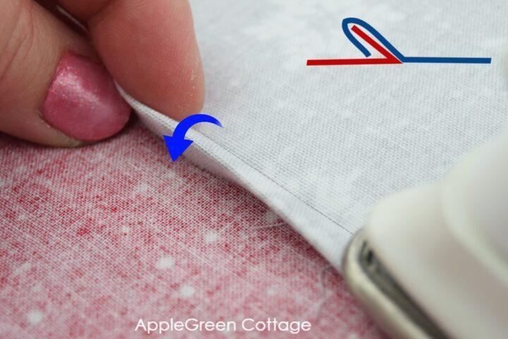 how to fold a flat felled seam