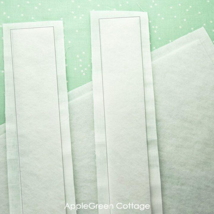 interfacing on light fabric