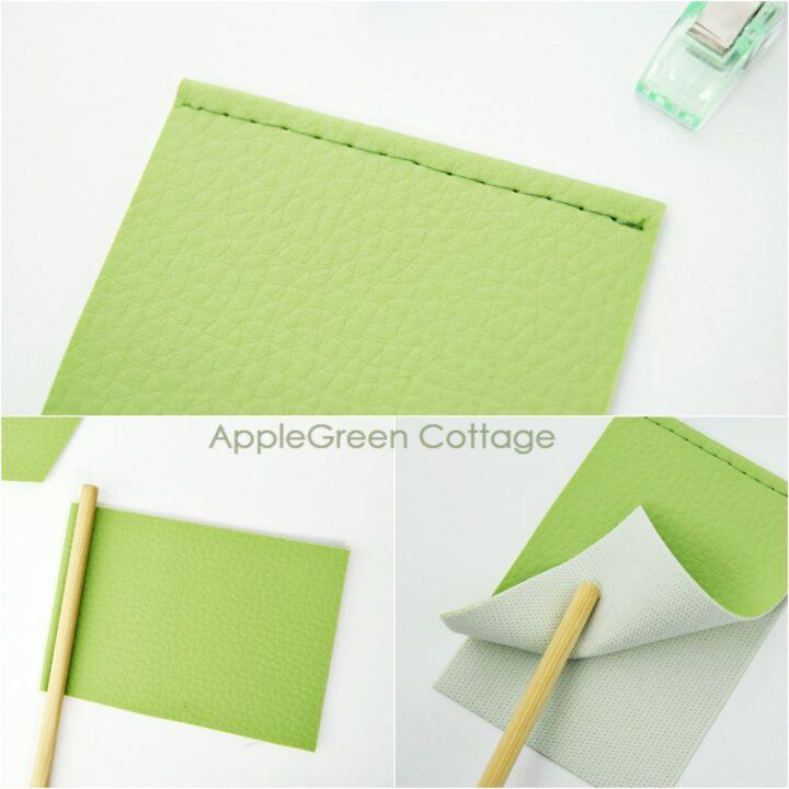 divider sewing on a card holder pattern