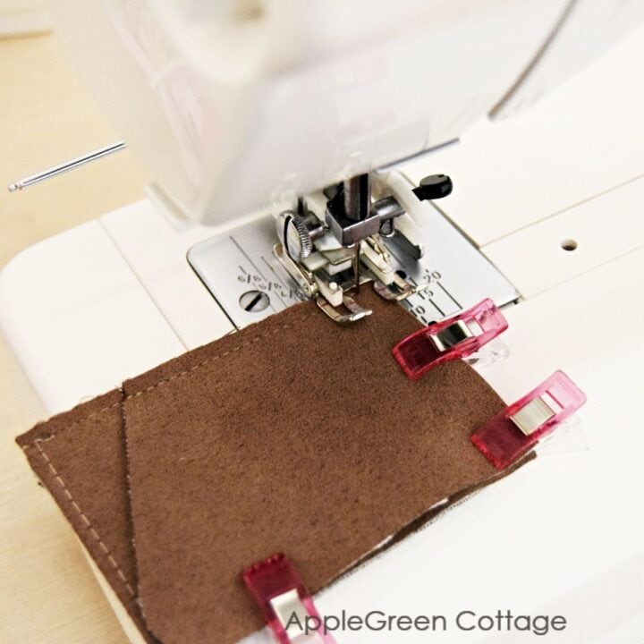 sewing a front pocket wallet