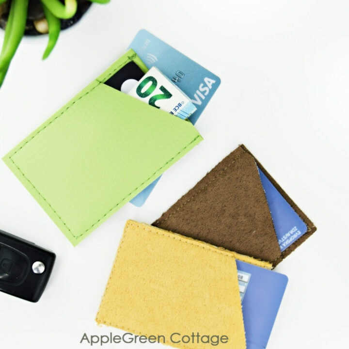 diy card holder wallets in faux leather