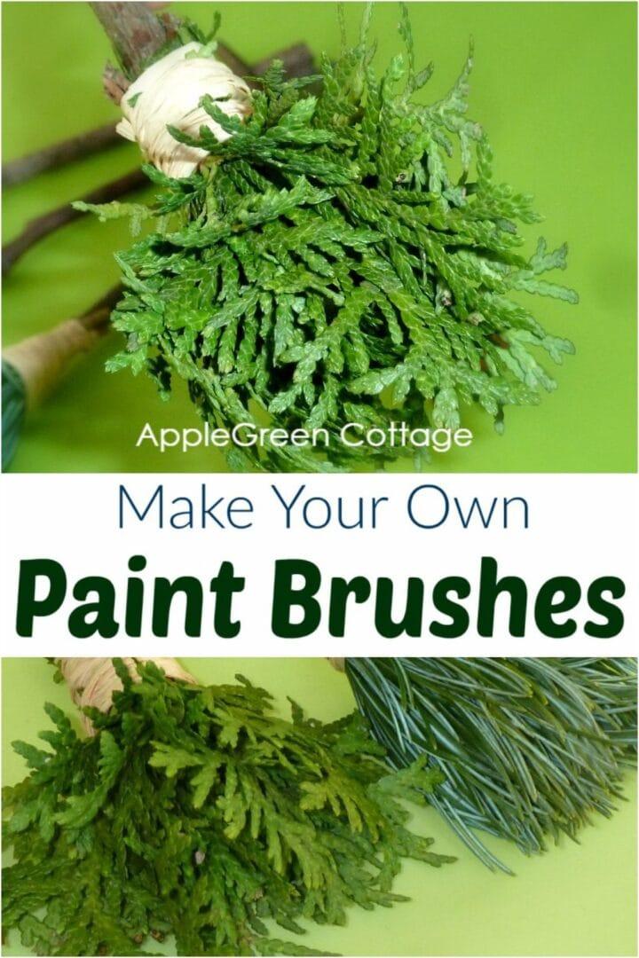 diy nature paint brushes