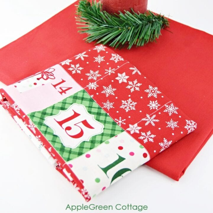 Christmas advent fabric panel for sewing an advent calendar