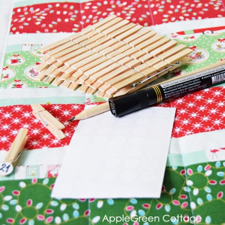 how to add numbers to diy advent calendar