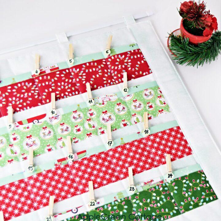 homemade fabric advent calendar