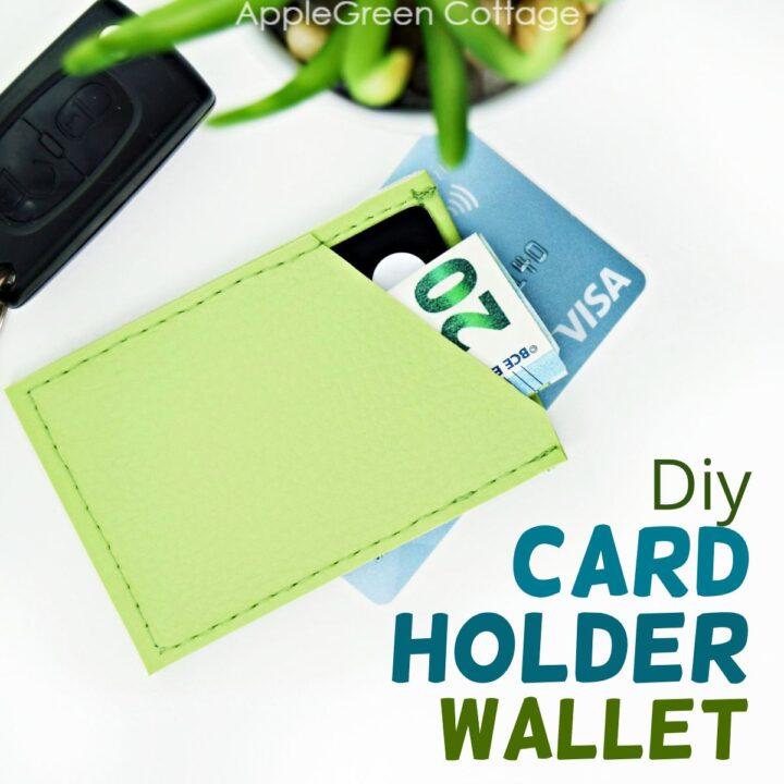 diy card holder wallet finished