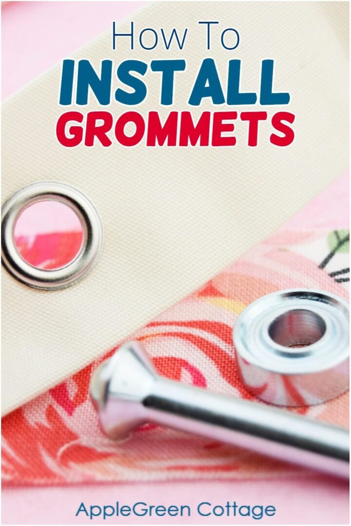 installed grommet on fabric