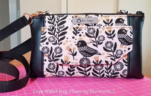 enya wallet bag sewn by Donmarie