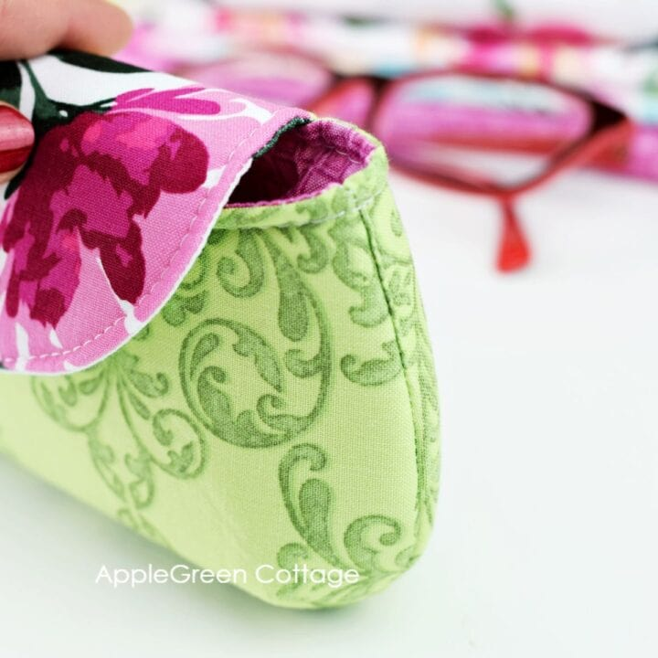 detail from the sewn sunglasses case