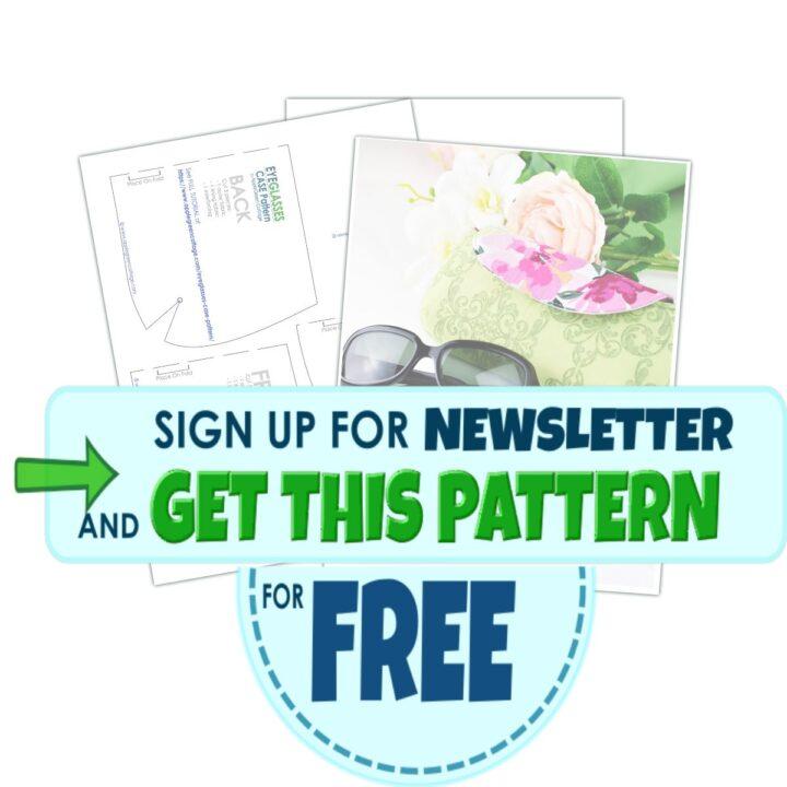 get free eyeglasses case pattern