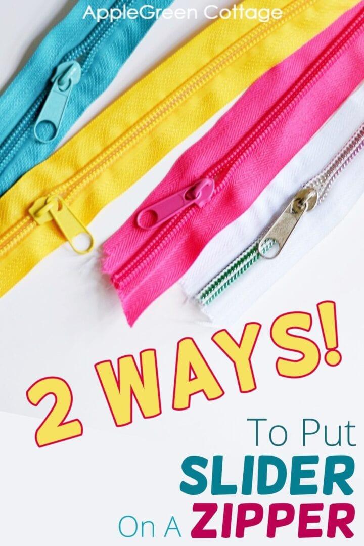 how to put slider on a zipper tutorial