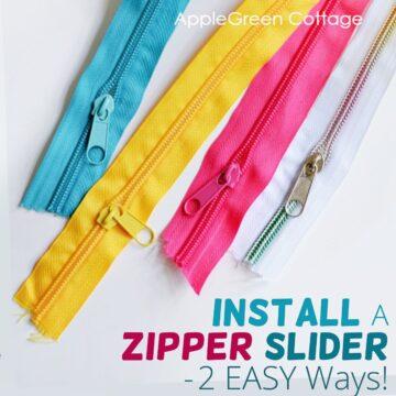 How To Put A Slider On A Zipper