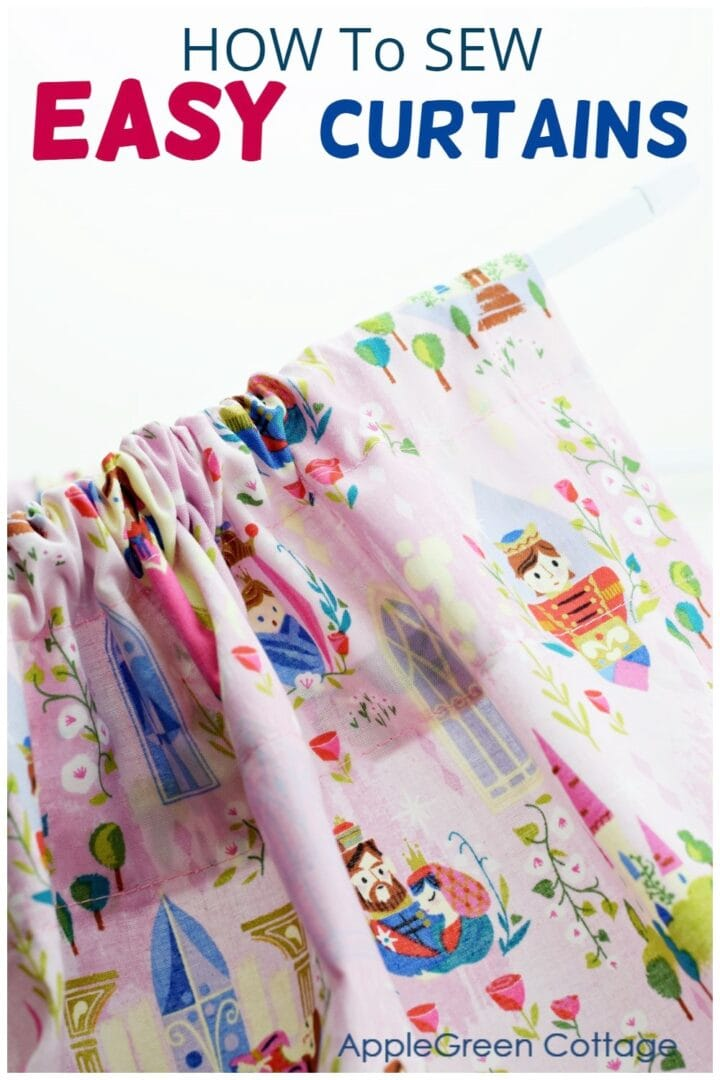 How To Make A Curtain - 2 Ways!