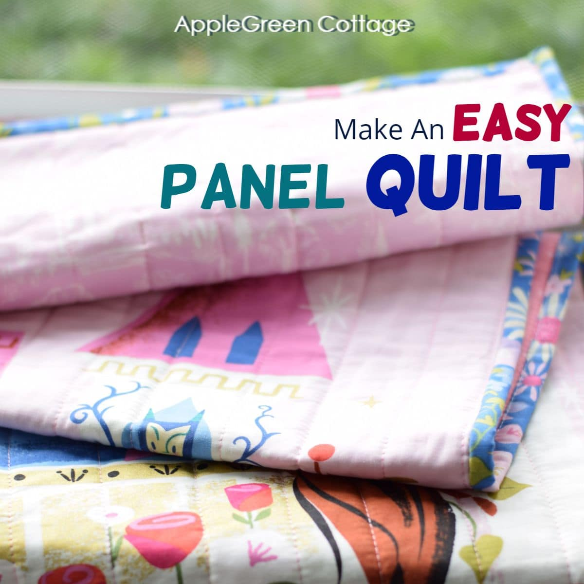 how to quilt with panels)
