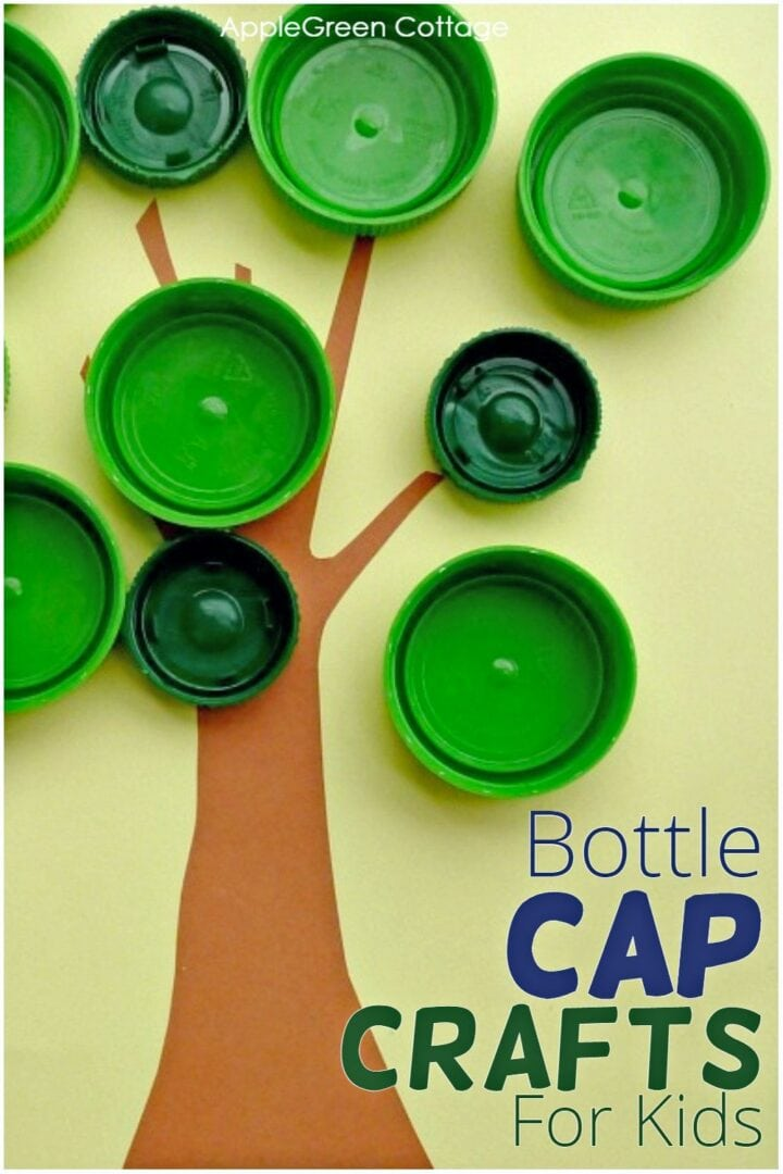 Bottle Cap Crafts for Kids - Apple Search Activity