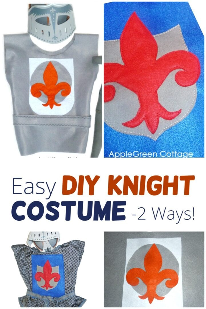 Easy DIY Knight Costume 2 Ways: No-Sew AND Sewing Version!