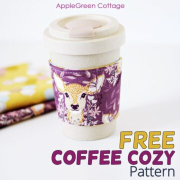 Free Coffee Cozy Pattern - Cozy at Home