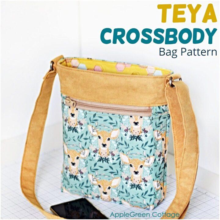 easy crossbody bag sewing pattern